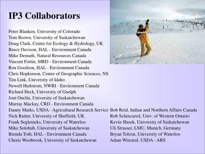 IP3 Collaborators