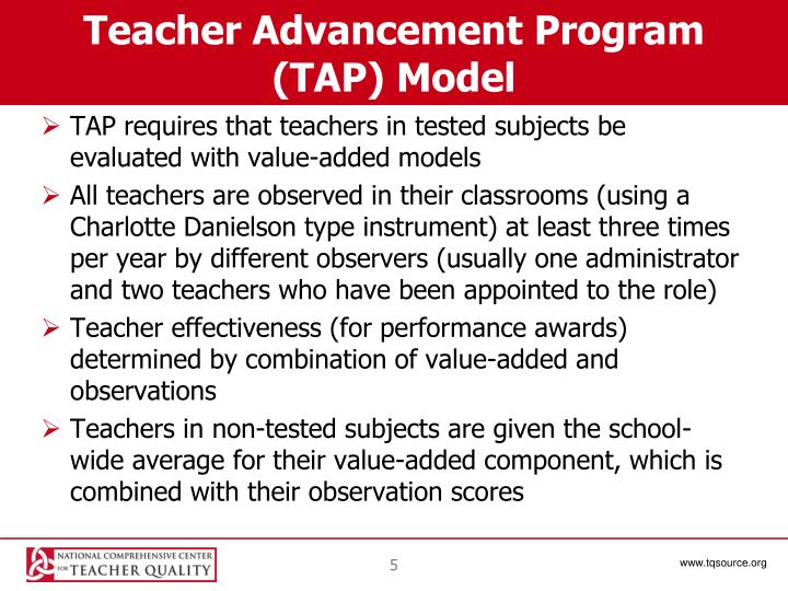 Teacher Advancement Program (TAP) Model