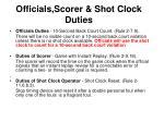 officials scorer shot clock duties