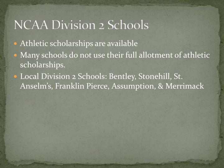 NCAA Division 2 Schools