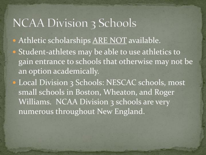 NCAA Division 3 Schools