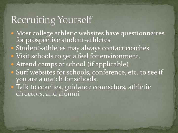 Recruiting Yourself