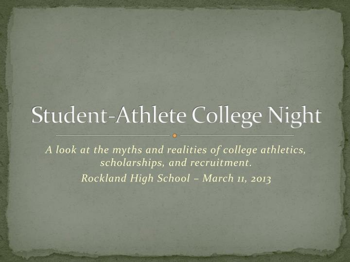 Student athlete college night