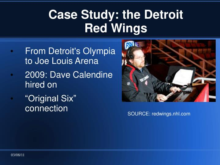 Case Study: the Detroit Red Wings