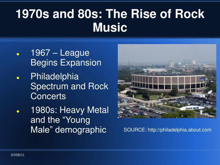 1970s and 80s: The Rise of Rock Music