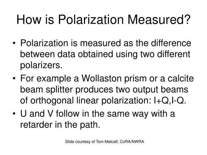 How is Polarization Measured?