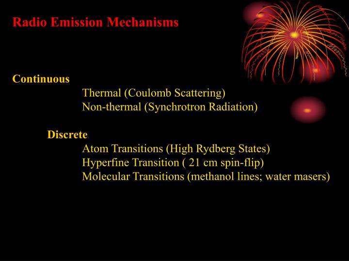 Radio Emission Mechanisms
