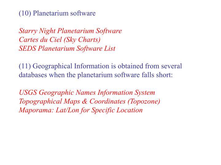 (10) Planetarium software