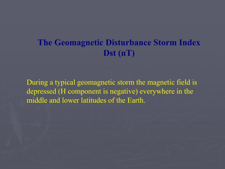 The Geomagnetic Disturbance Storm Index