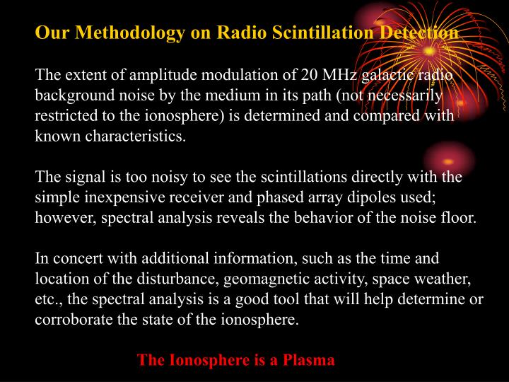 Our Methodology on Radio Scintillation Detection