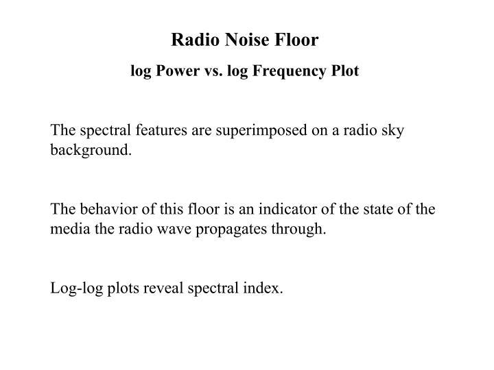 Radio Noise Floor