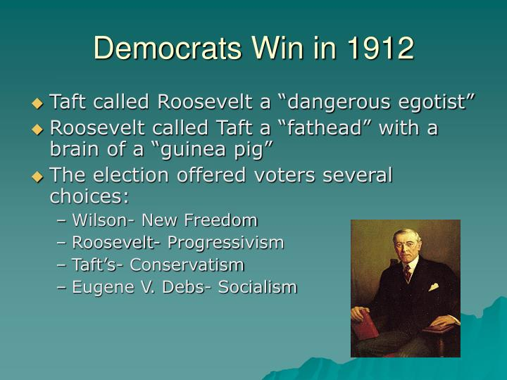Democrats Win in 1912