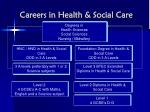 careers in health social care