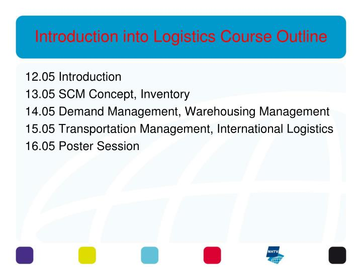 introduction into logistics notes