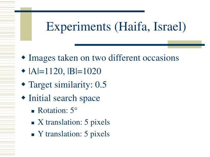 Experiments (Haifa, Israel)
