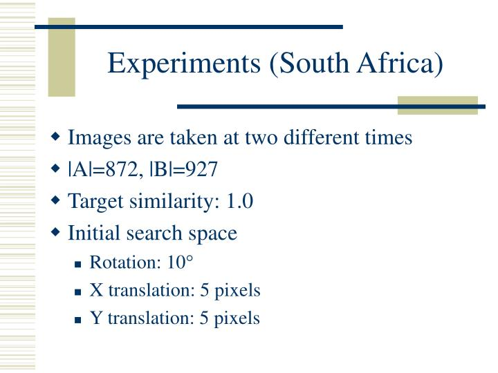 Experiments (South Africa)