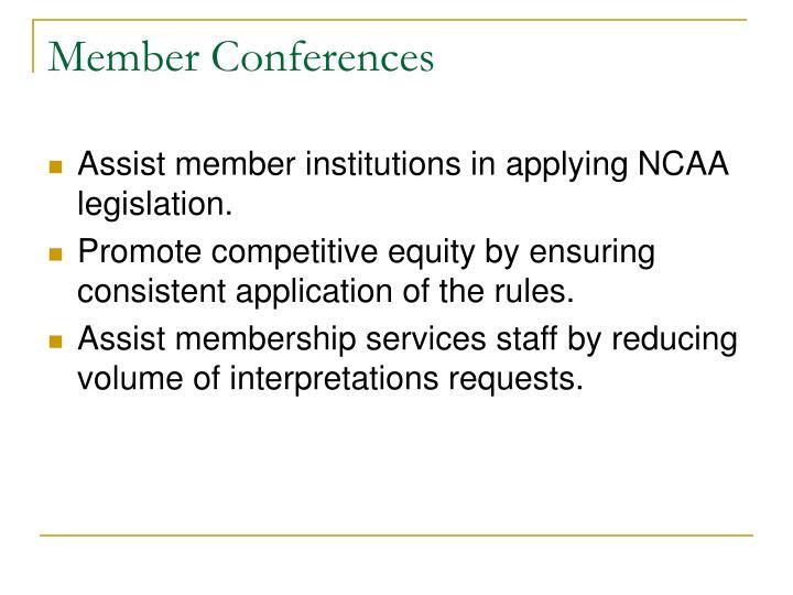 Member Conferences