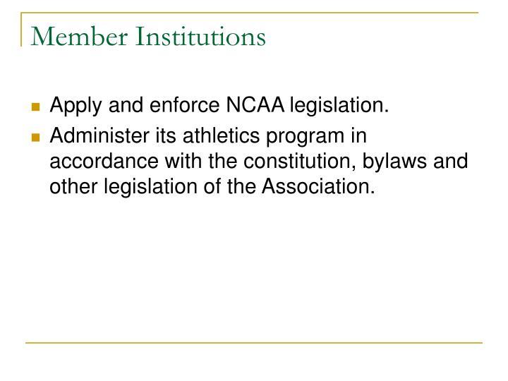 Member Institutions