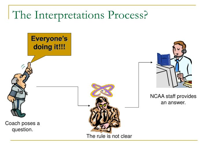 The interpretations process1