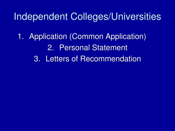 Independent Colleges/Universities