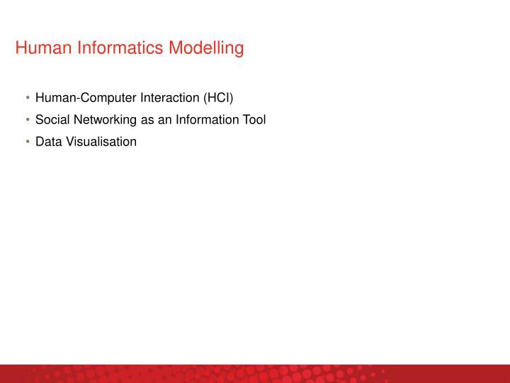 Human Informatics Modelling
