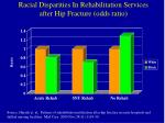 racial disparities in rehabilitation services after hip fracture odds ratio