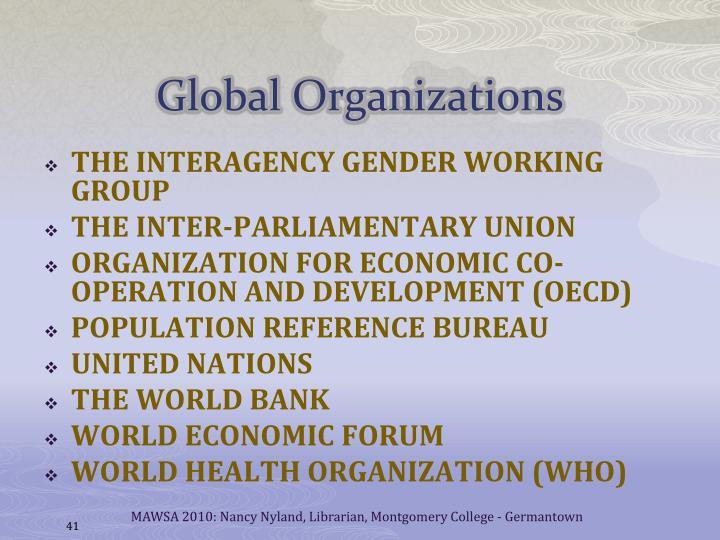 Global Organizations