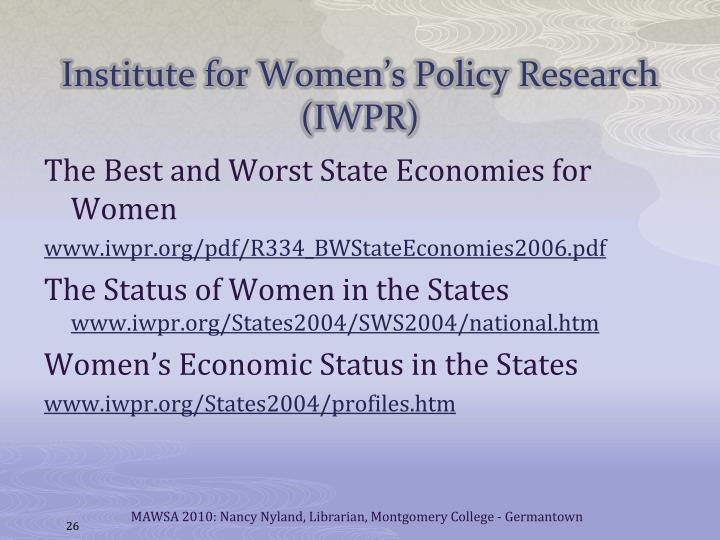 Institute for Women's Policy Research (IWPR)