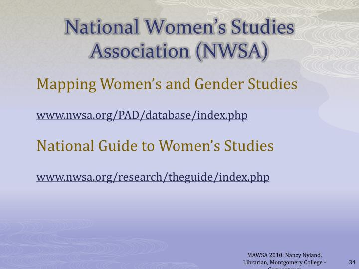 Mapping Women's and Gender Studies