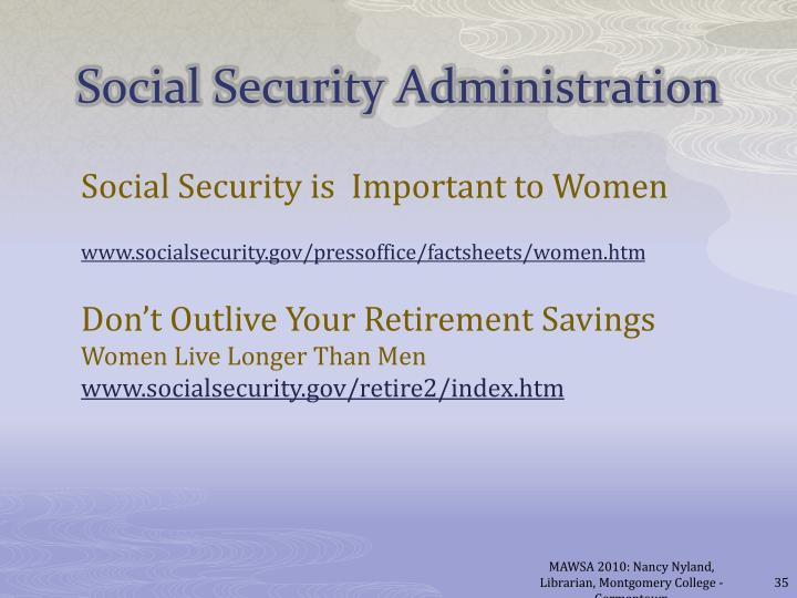 Social Security is  Important to Women