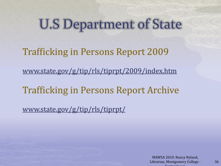 Trafficking in Persons Report 2009