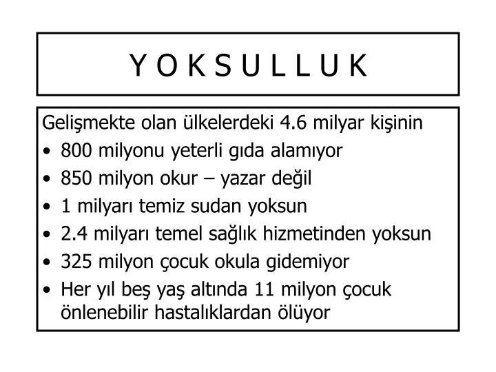 Y O K S U L L U K