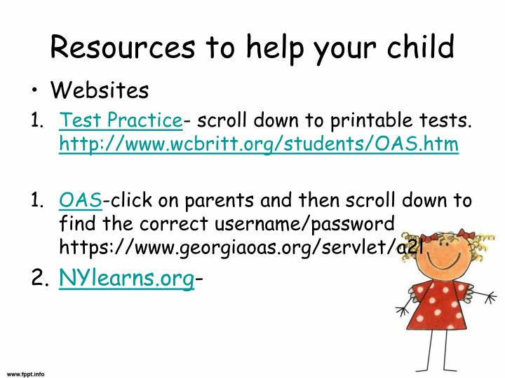 Resources to help your child