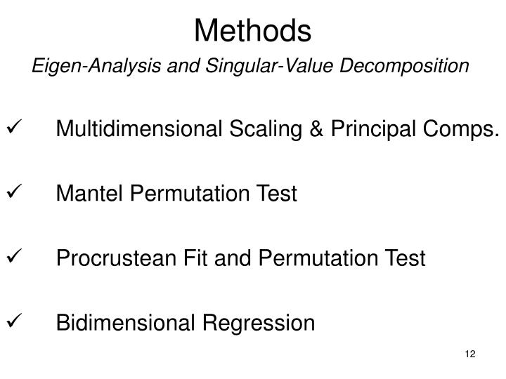 Eigen-Analysis and Singular-Value Decomposition