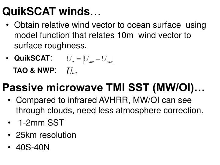 QuikSCAT winds