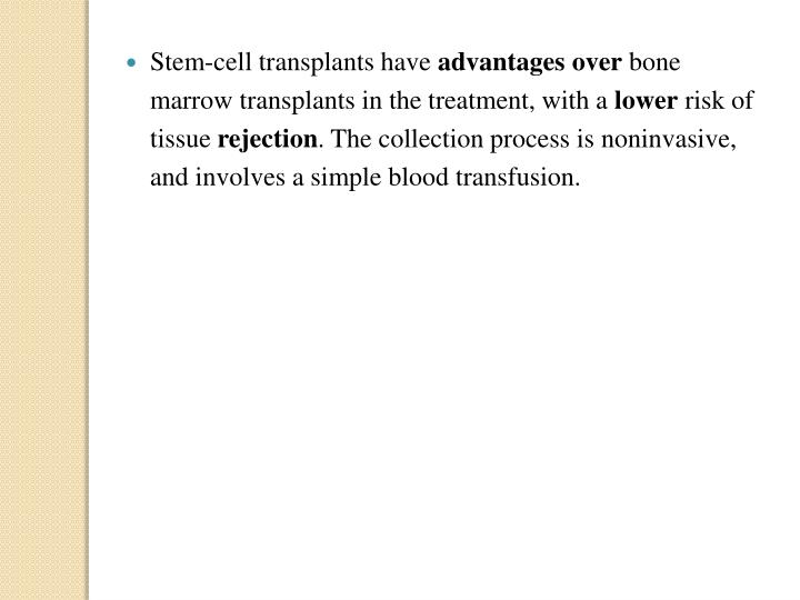 Stem-cell transplants have