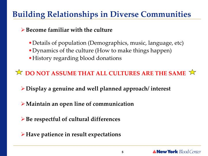 Building Relationships in Diverse Communities