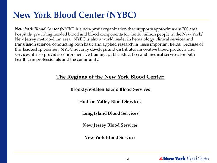 New york blood center nybc