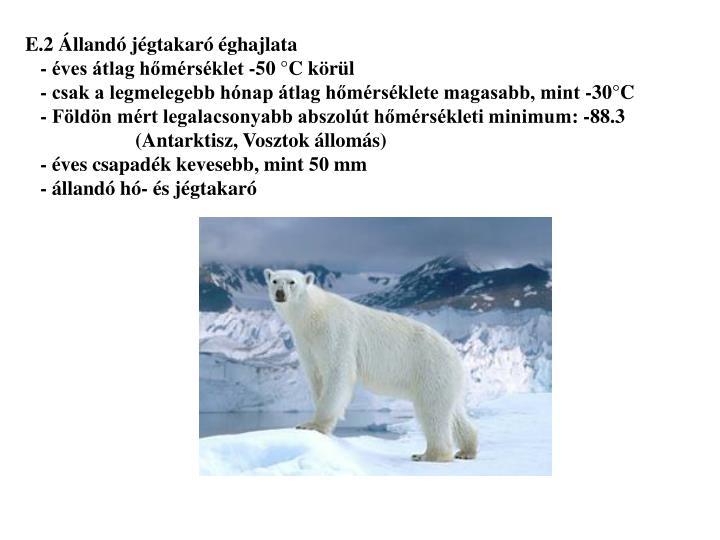 E.2 Állandó jégtakaró éghajlata