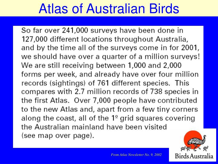 Atlas of Australian Birds