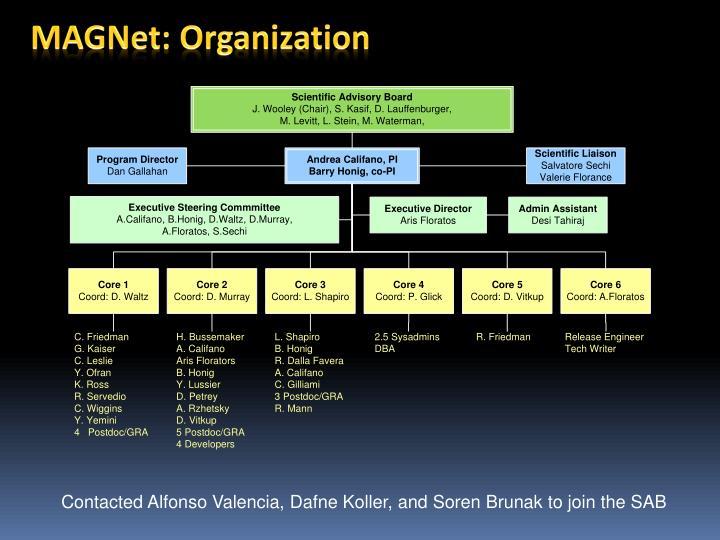 MAGNet: Organization