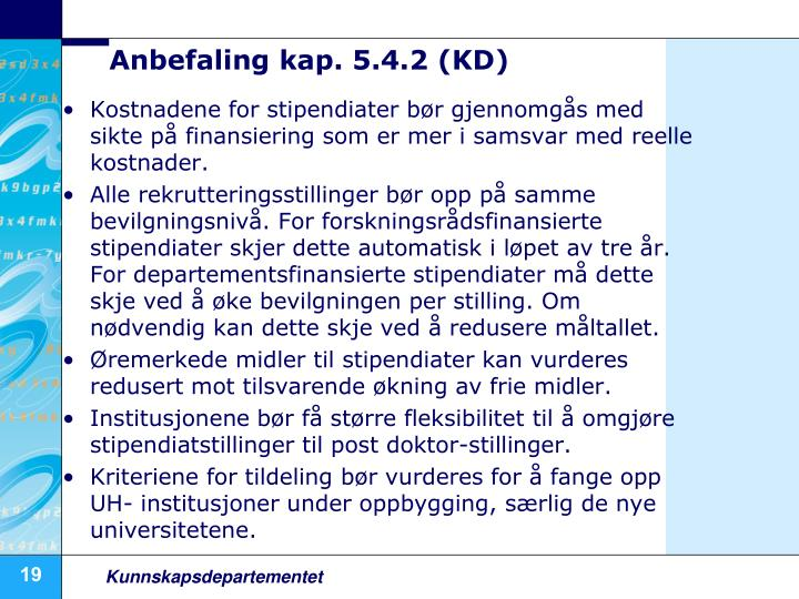 Anbefaling kap. 5.4.2 (KD)