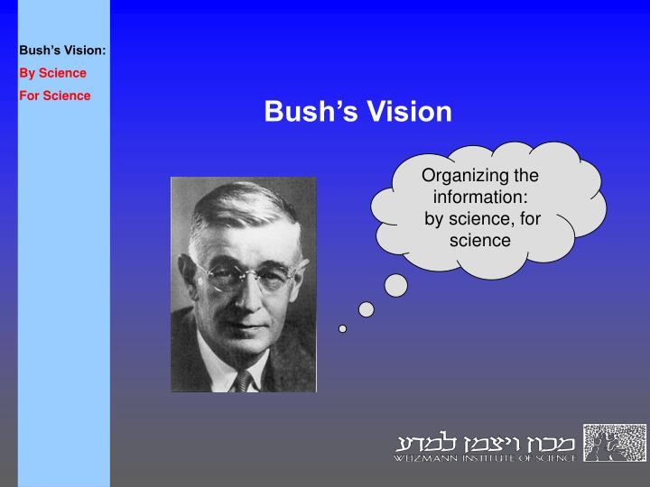 Bush's Vision: