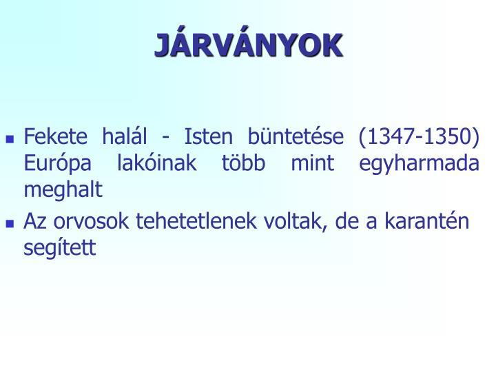 JÁRVÁNYOK