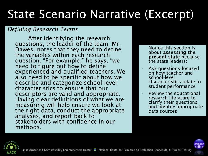 Defining Research Terms