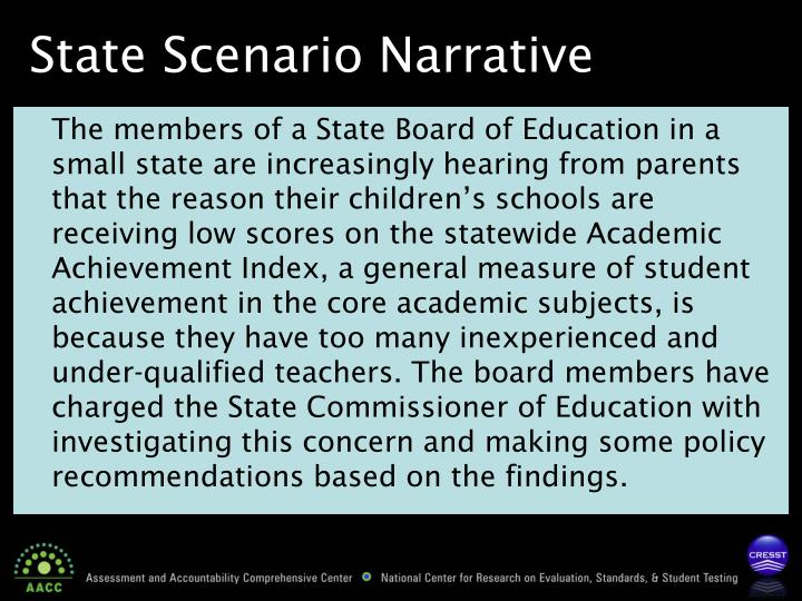 State Scenario Narrative