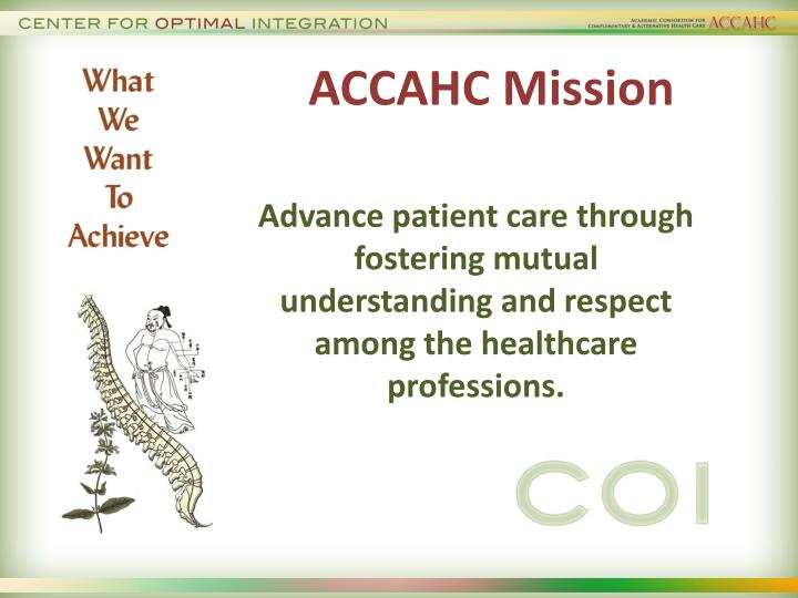 ACCAHC Mission