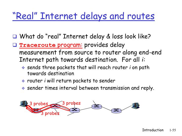 """Real"" Internet delays and routes"