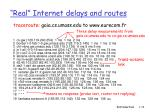 real internet delays and routes1