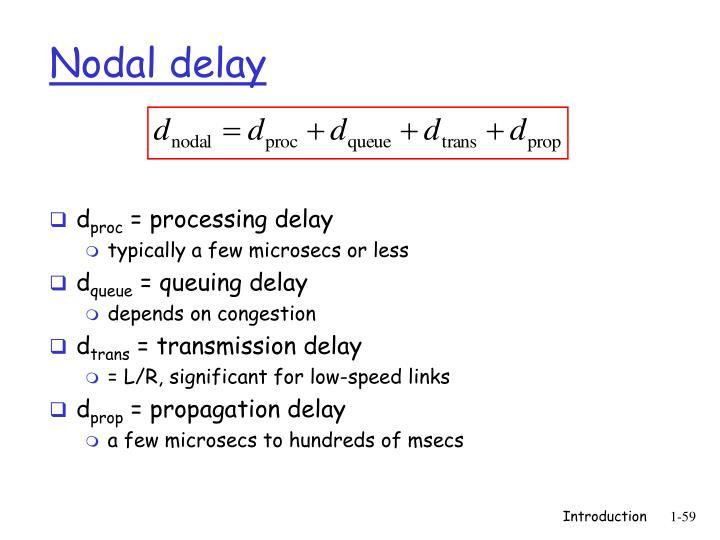Nodal delay